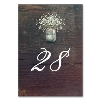 Baby's Breath Mason Jar Rustic Country Wedding Card