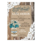 Baby's Breath Wood Lace Rustic Bridal Shower Card