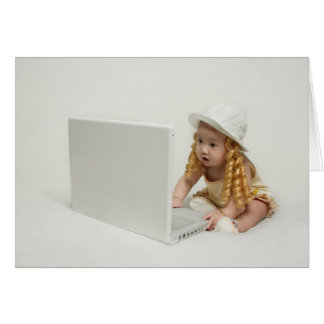 Baby's Checking Email Card