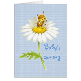 Baby's coming! card