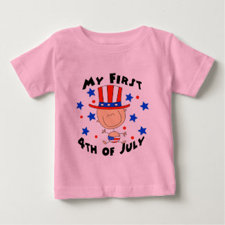 Baby's First 4th of July Baby T-Shirt