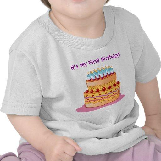 Baby's First Big Birthday Cake T-shirt