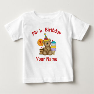 Baby's first birthday bear personalized t-shirts
