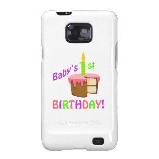 BABYS FIRST BIRTHDAY GALAXY S2 CASE