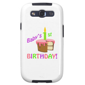 BABYS FIRST BIRTHDAY GALAXY S3 COVERS