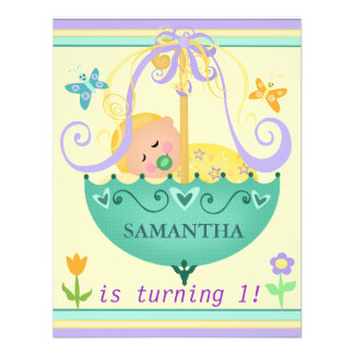 Baby's First Birthday Custom Invitation