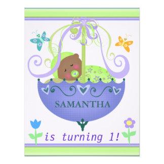 Baby's First Birthday Custom Invitation - Ethnic