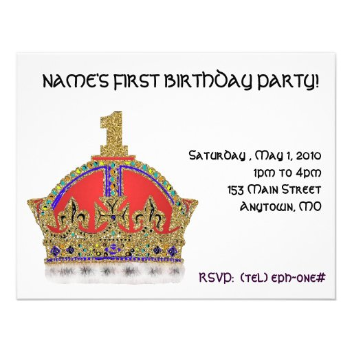 Baby's First Birthday Personalized Invitations
