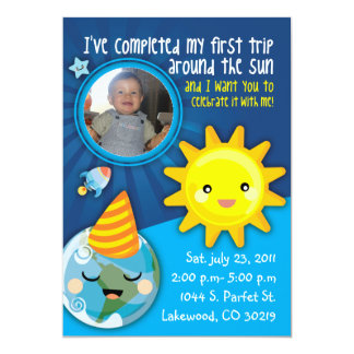 BABYS FIRST BIRTHDAY INVITATION