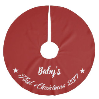 Baby's First Christmas 2017 Brushed Polyester Tree Skirt