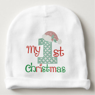 Baby's First Christmas Baby Beanie