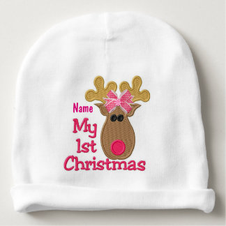 """Baby's First Christmas"" BABY HAT Baby Beanie"
