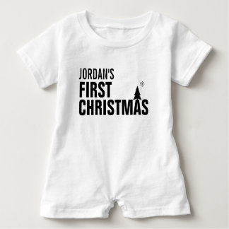 Baby's First Christmas Baby Romper