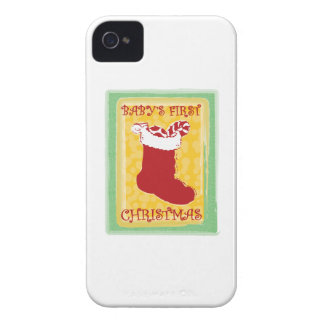 Babys First Christmas iPhone 4 Case-Mate Case