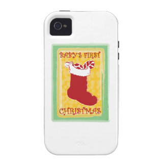 Babys First Christmas Vibe iPhone 4 Cover
