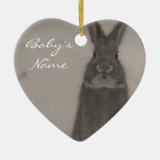 Baby's First Christmas Ceramic Heart Ornament
