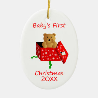 Baby's First Christmas Ceramic Ornament