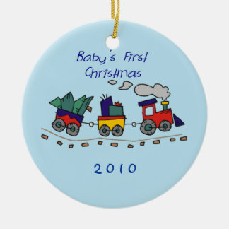 Baby's First Christmas Choo-Choo Train Ceramic Ornament