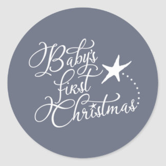 Baby's First Christmas Collection - Matching Seal Round Sticker