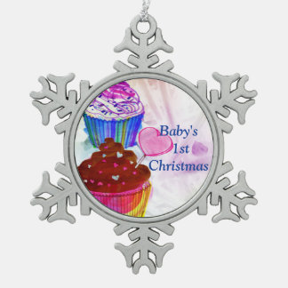 Baby's First Christmas Cupcake Ornament