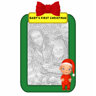 Baby's First Christmas Custom Photo Ornament Photo Sculpture Ornament