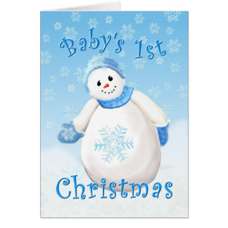 Baby's First Christmas Greeting Card