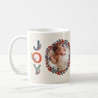Baby's First Christmas Holiday Berries Joy Photo Coffee Mug
