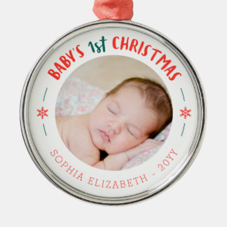 Baby's First Christmas Keepsake Metal Ornament