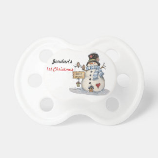 Baby's First Christmas Let it Snow Pacifier