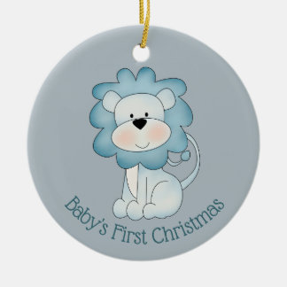 Baby's First Christmas - Lion  (baby boy) Ceramic Ornament