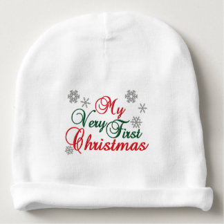 Baby's First Christmas - name customized - Baby Beanie