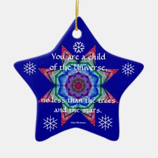 Baby's First Christmas Ornament.Desiderata.Quote.4 Ceramic Star Ornament