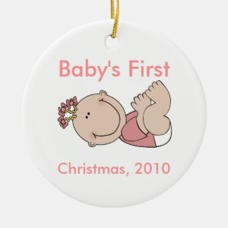 Baby's First Christmas Ornament - Girl