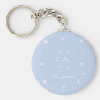 Baby's First Christmas Ornaments & Gifts Keychain