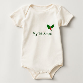 Baby's First Christmas Outfit with Holly Baby Bodysuit