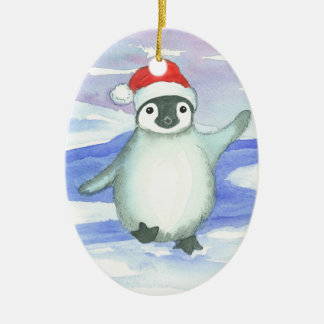 Baby's First Christmas Penguin Ceramic Ornament