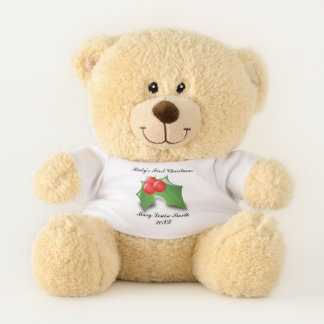 Baby's First Christmas Personalized Teddy Bear