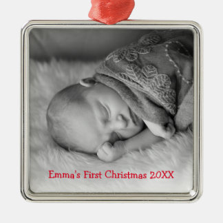 Baby's First Christmas Photo Framed Ornament
