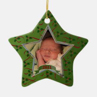 Baby's First Christmas Photo Keepsake Ornament