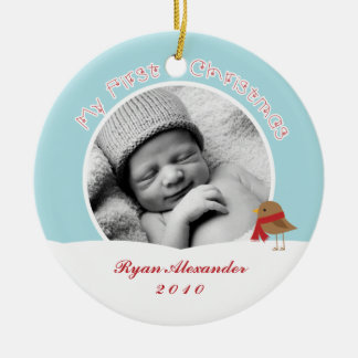 Baby's First Christmas Photo Ornaments