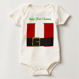 Baby's First Christmas Santa Baby Bodysuit