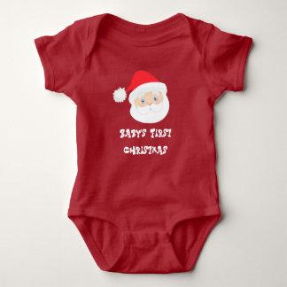 Baby's First Christmas Santa Baby Bodysuit