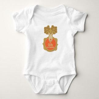 Baby's First Christmas Sleeper Baby Bodysuit