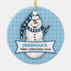 Baby's First Christmas Snowman Ornament