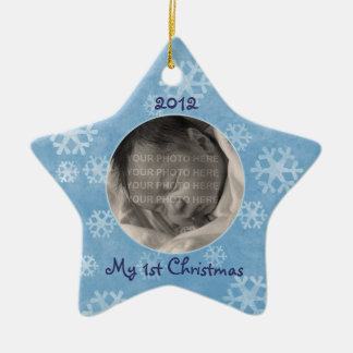 Baby's First Christmas Star Photo Ornament