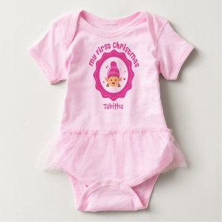 Baby's First Christmas Tutu Baby Bodysuit