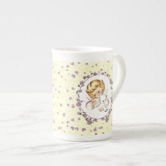 Baby's First Easter. Little Angel with Lamb Mugs