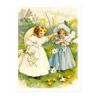 Baby's First Easter. Vintage Kids Custom Postcards
