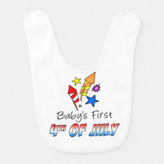Baby's First Fourth Of July Bib