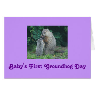 Baby's First Groundhog Day Greeting Card
